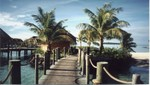 Walkway to overwater bungalows